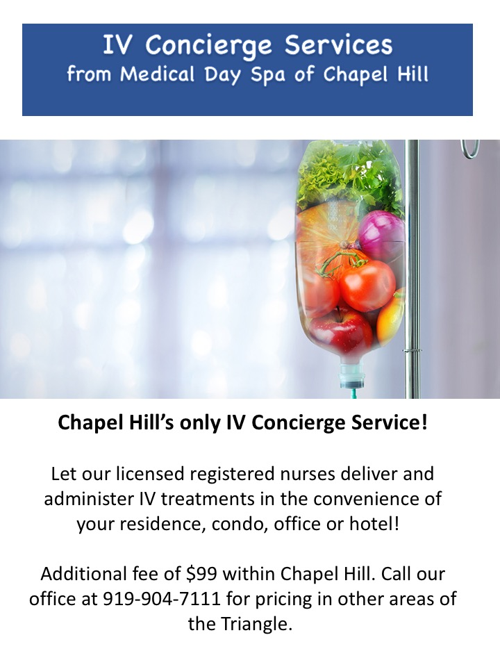 IV Hydration Concierge Services from Medical Day Spa of Chapel Hill NC