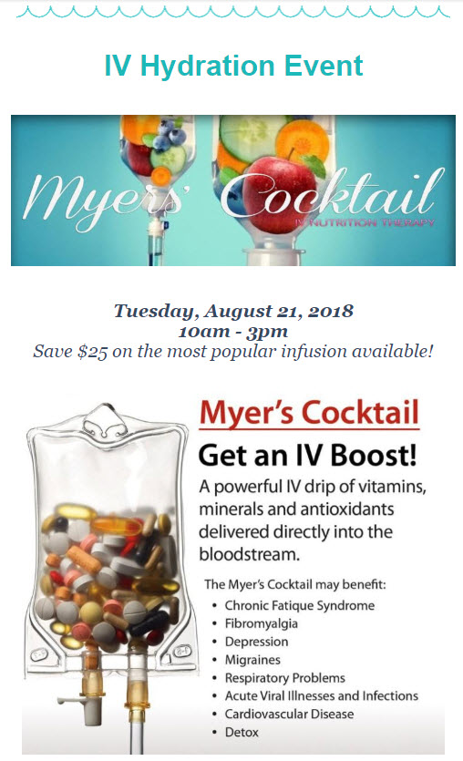 Myers Cocktail Event at Medical Day Spa of Chapel Hill NC