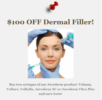 $100 off dermal filler September Specials at Medical Day Spa of Chapel Hill NC