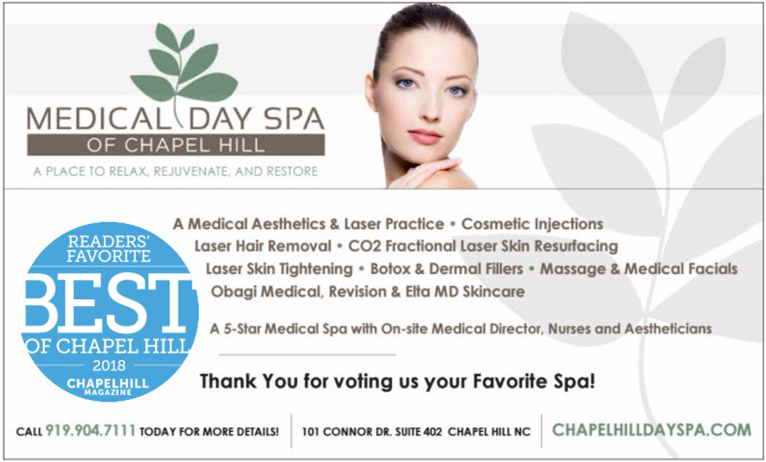 2018 Best Of Chapel Hill - Medical Day Spa of Chapel Hill NC