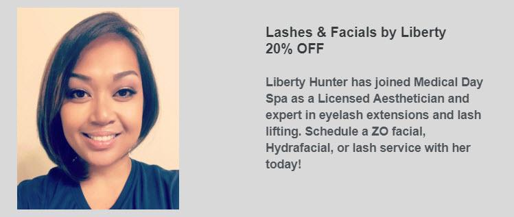 Lashes & Facials by Liberty at Medical Day Spa of Chapel Hill NC